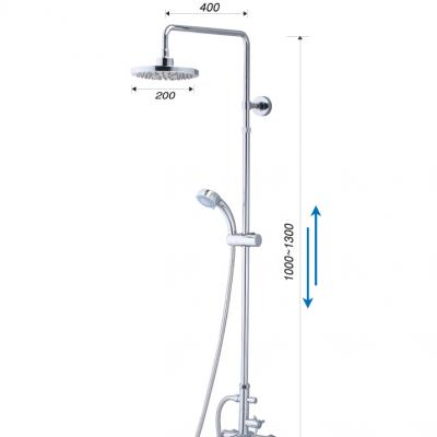 Bộ Vòi Sen Đứng Nóng Lạnh - S488C